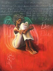 "Samuel Dunson, ""Die Die Die,"" 2004, oil on canvas,"