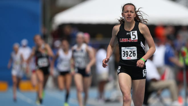 Stephanie Jenks of Linn-Mar of Marion, a junior, will try to win the 1,500 and 3,000 meters for a third straight year at next week's Drake Relays.