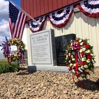 A newly unveiled memorial outside the Hudson Valley Sportsdome in Milton honors veterans in the Global War on Terror. The memorial was dedicated in a ceremony on Sunday.