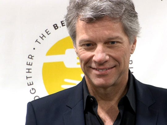 Jon Bon Jovi is shown during the grand opening of the