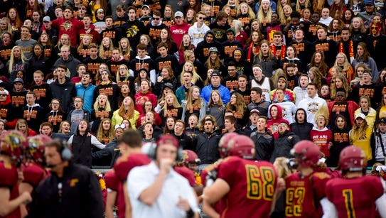 The Roosevelt student section chants before their team's