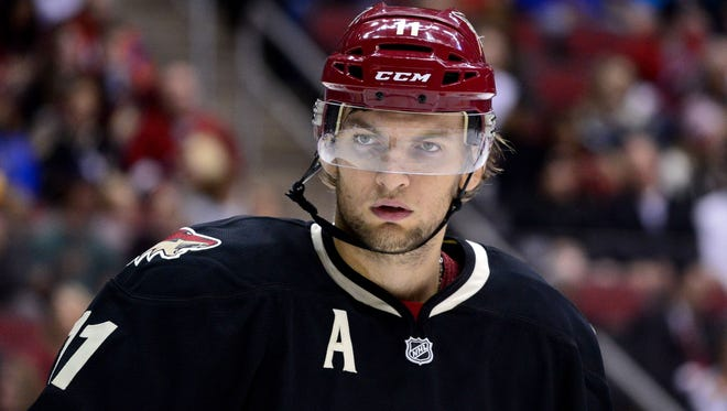 Phoenix Coyotes center Martin Hanzal has previously suspended during the 2012 playoffs.