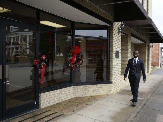 Incoming Mayor of Cairo, Ga. Booker Gainor walks by