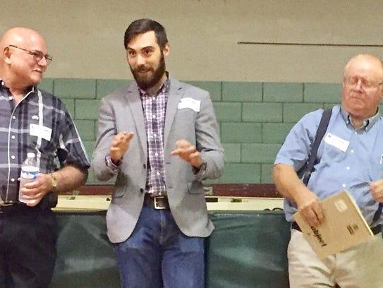Alexandria mayoral candidates, from left, Jim Jasper,
