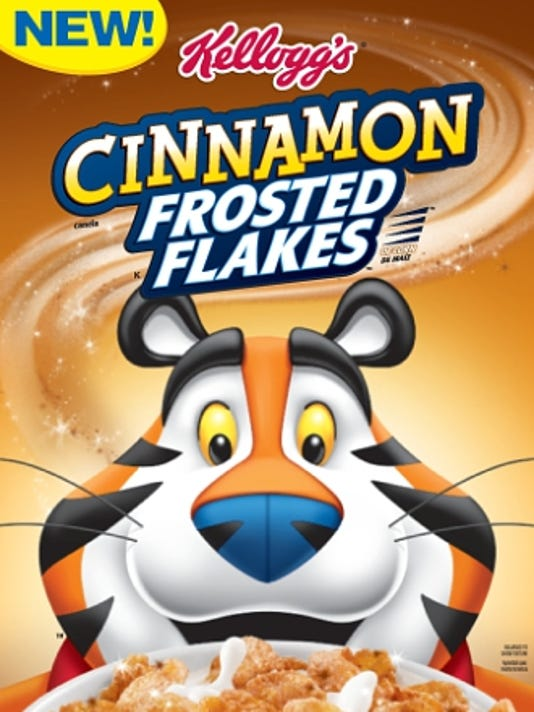 Kellogg Company New Cinnamon Frosted Flakes