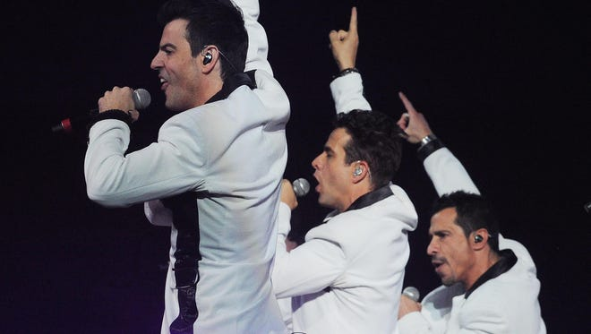 New Kids on the Block, shown during a 2013 stop at Bankers Life Fieldhouse, will be joined Sunday by TLC and Nelly.