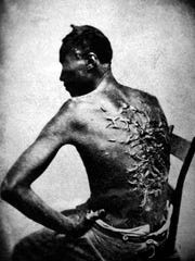 Overseer Artayou Carrier whipped me.  I was two months in bed sore from the whipping.  My master come after I was whipped; he discharged the overseer.  The very words of poor Peter, taken as he sat for his picture.  Baton Rouge, La., April 2, 1863.  (War Dept.)NARA FILE #:  165-JT-230WAR & CONFLICT BOOK #:  109