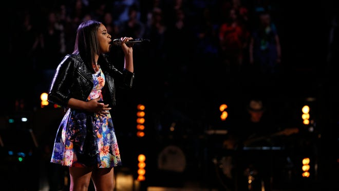 """Koryn Hawthorne, 17, of Abbeville begins competition in """"The Voice"""" finals Monday night."""