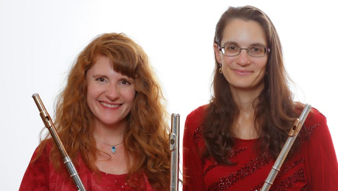 The Ithaca Flute Duo, Juliana May Pepinsky and Elizabeth Shuhan, perform Wednesday at Cornell.