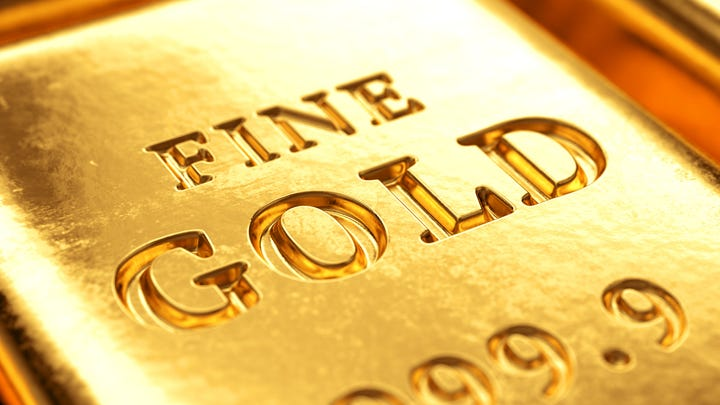 A shining bar of gold.