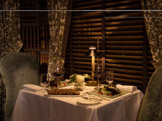 Romantic dining at the historic Bernards Inn in Bernardsville.