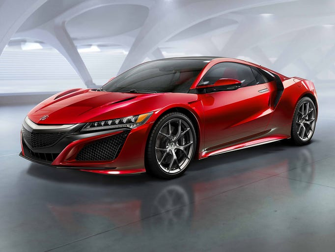 Acura NSX: This raked, jewel-eyed weapon got speeding