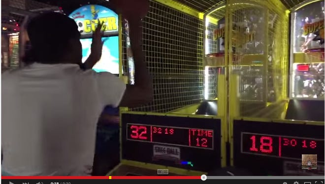 Kevin Durant put on a show at a Los Angeles Dave and Buster's location.