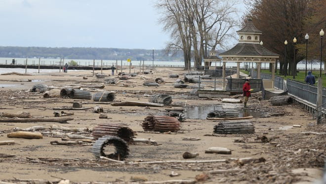 The beach at Charlotte. Gov. Andrew Cuomo has declared a state of emergency due to flooding along the Lake Ontario shoreline.