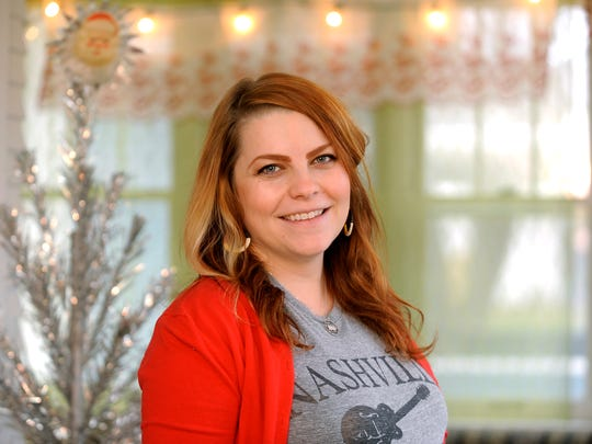 Erin Castle decorates her home for the holidays with