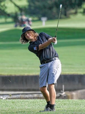Senior Mark Towns shot a team-best 74 as the Kilbourne boys golf team finished first in the second round of the OCC-Capital tournament Aug. 12 at Darby Creek.