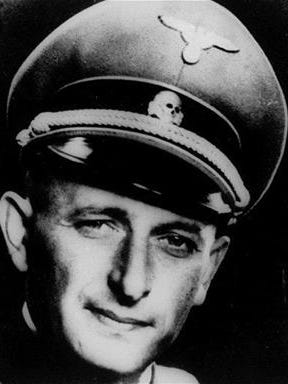 The undated World War II photo shows Adolf Eichmann in his Nazi SS officer uniform.