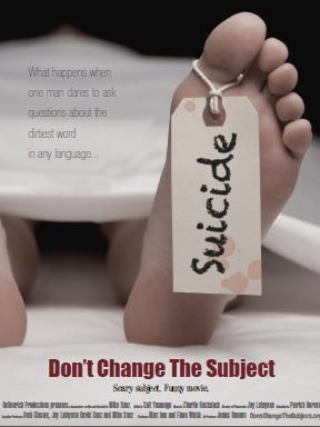 Poster for Don't Change the Subject documentary, which will be shown at the Manitowoc Library.