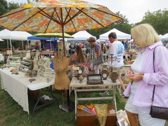 The Asheville Flea for Y'all during a previous season at the Salvage Station. This year, it will be held at the Asheville Outlets.