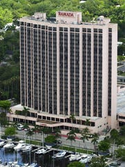 FILE: The Amtel Hotel in downtown Fort Myers started out life as the Sheraton Harbor Place.