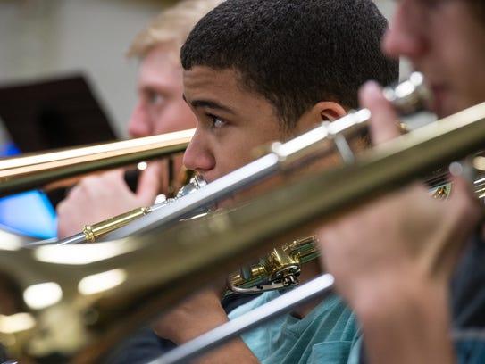 Mardela High School Junior, Keith Flagg, plays the