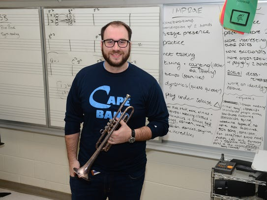 Cape Henlopen High School teacher Chris Burkhart, Thursday,