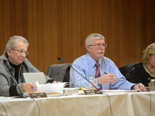 Commissioner Stan Mills speaks during The City of Rehoboth