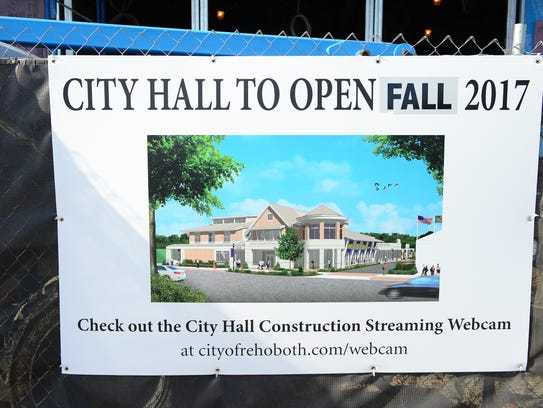 Rehoboth City Hall is under construction on Friday,