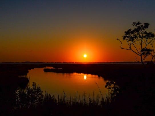 A sunset on Assateague Island, August 30, 2016.