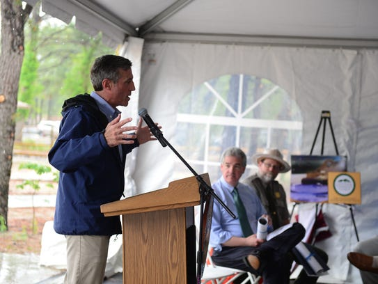 Delaware Gov. John Carney speaks before the ribbon-cutting