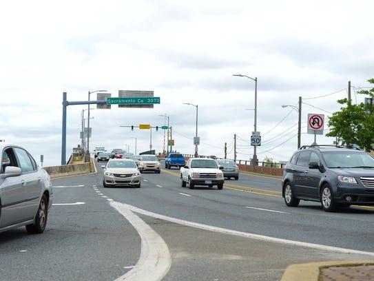 Traffic entering Ocean City via the Route 50 bridge