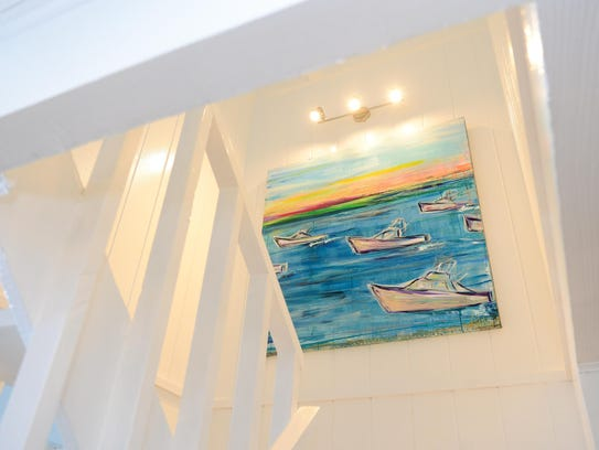 Local Artist Abbi Custis has a painting is featured