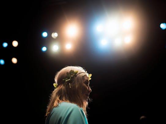 Stella Brennan-Romano plays Hermia during a dress rehearsal