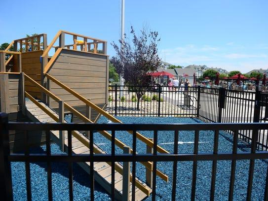 Recently, a children's playground was installed against