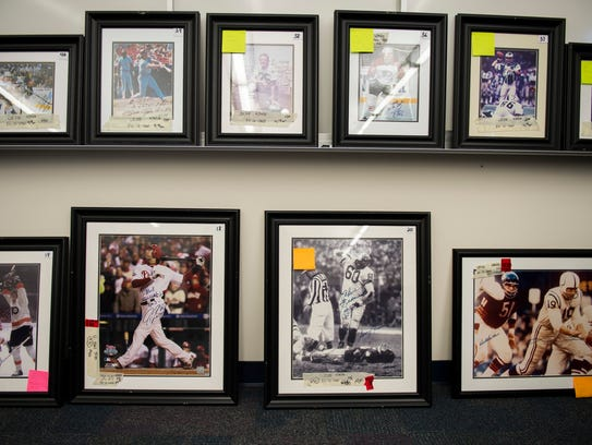Various signed sports memorabilia is up for auction from the Burlington County Prosecutor's Office in Westampton.