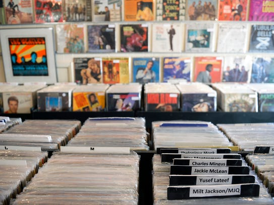 Jazz artists are marked inside Inner Groove Records