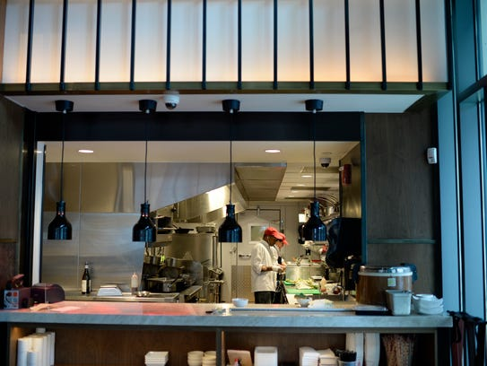 The kitchen at Danlu in Philadelphia.