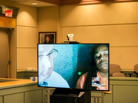 Terrell Savage appears in court via video Wednesday,
