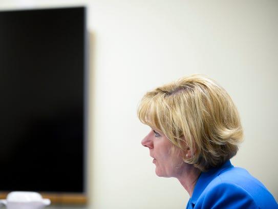 Assistant Camden County Prosecutor Christine Shah addresses