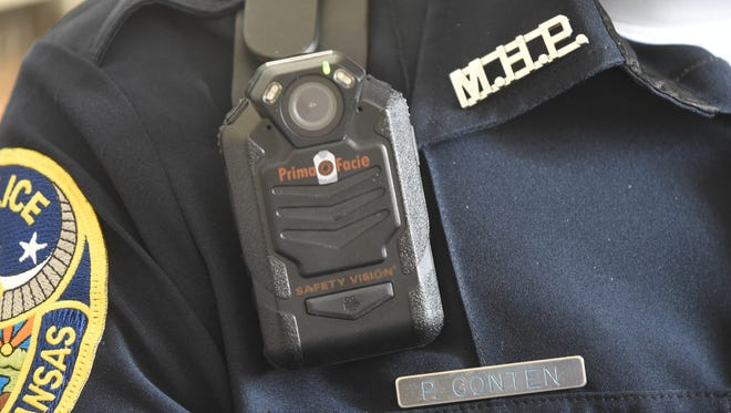 When you see a blinking red light coming from the shoulder of a Mountain Home police officer, it means you're being recorded by the officer's body camera. Soon, all of the department's officers will be outfitted with the devices.