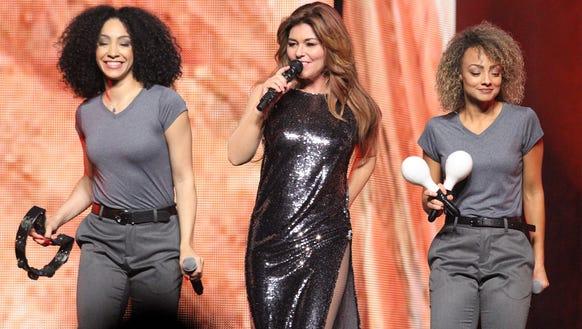 Shania Twain performs at the Denny Sanford Premier