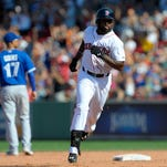 Jackie Bradley Jr. had four hits with a two-run home
