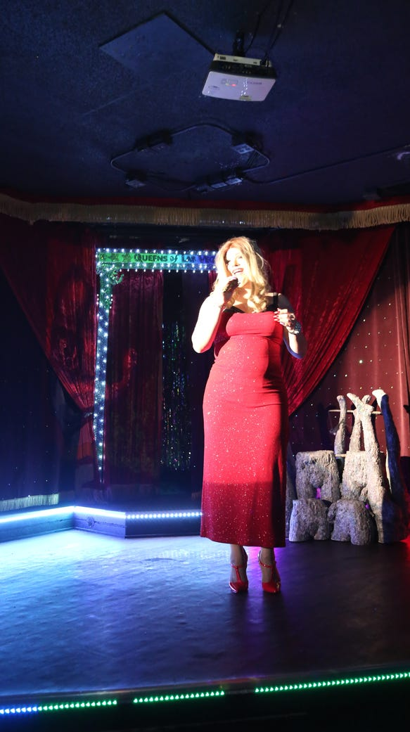 "Danielle Steelcox performs at ""What a Drag!"" at Flex"