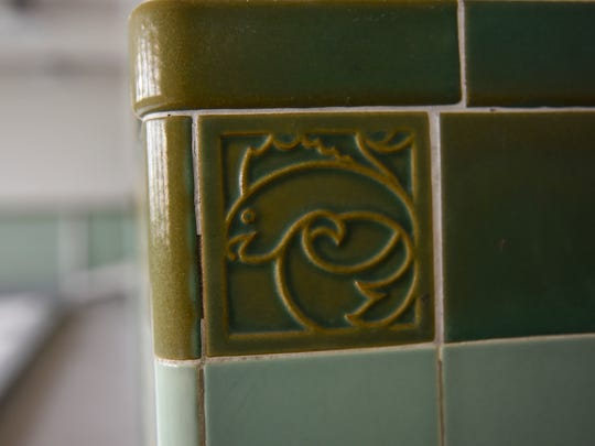 Planners hope to repurpose vintage decorative tiles in the Eastman Hall pool area if they can be removed intact.
