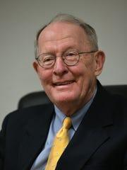 Sen. Lamar Alexander during an interview at the Knoxville