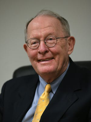Sen. Lamar Alexander during an interview at the Knoxville News Sentinel on Friday, Feb. 23, 2018.