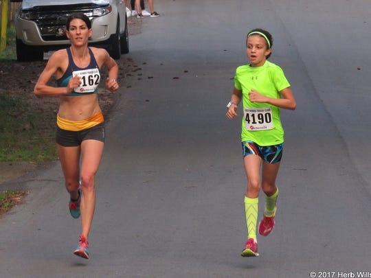 Katie Sherron and Ani Veltchevva at Women's Distance Festival, one of Sherron's 17 wins last year.