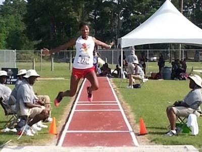 Roberson junior Elyse King is a member of the Asheville Lightning track club.