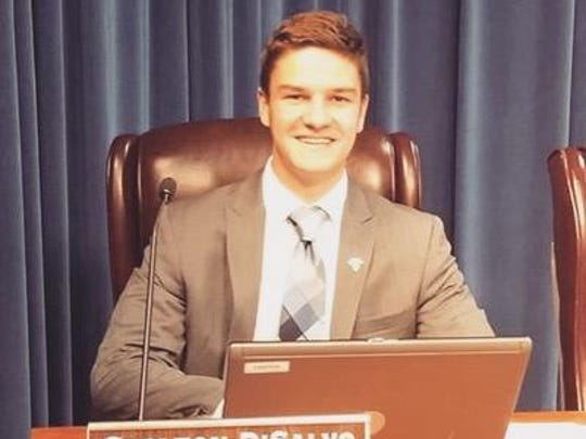 Carlton DiSalvo, a Leon High School senior, represents students in the district and sits on the Leon County School Board as non-voting member.
