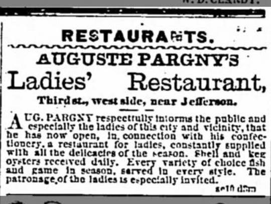 """Thanksgiving Day ad for """"Ladies' Restaurant"""" in the"""